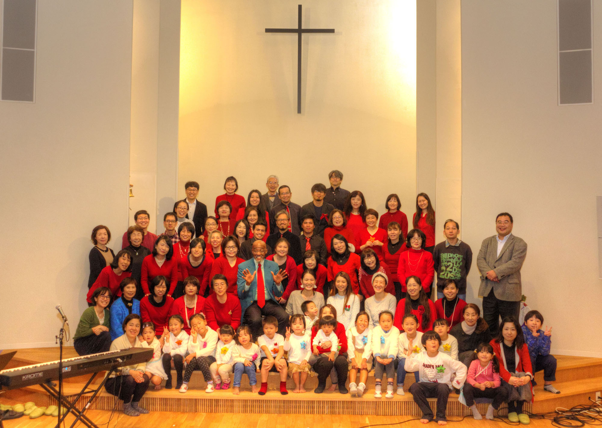 Nagasaki Baptist Church March 27 congregation photo
